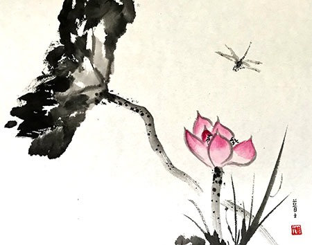 DRAGON-FLY-&-LOTUS
