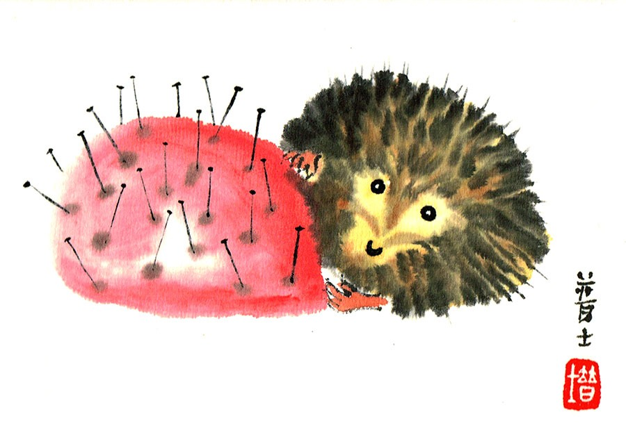 HEDGEHOG-&-PIN-CUSHION